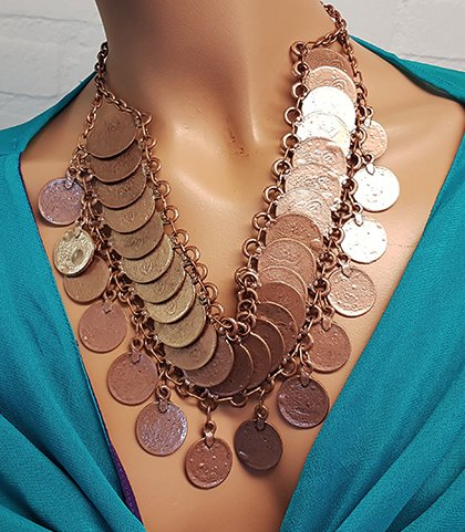 Tribal necklace copper