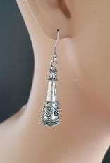 Earrings corns antique-silver look