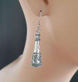 Ohrringe antik-silber look