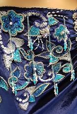 Sakkara Leila Kostüm asymmettrisch in Blau