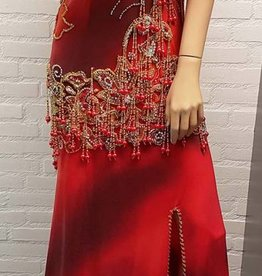 Belly dance dress in red