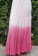 Batik cotton summer skirt in pink