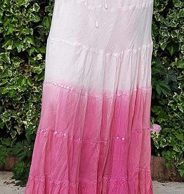 Batik cotton skirt in pink