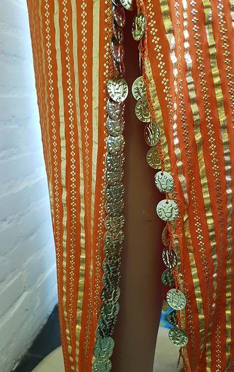 Saidi dress in orange/gold