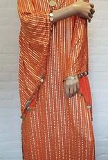 Saidi-Kleid in orange/gold