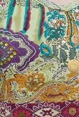 Sakkara Ärmelloses Flowerprint-Shirt grün-meliert
