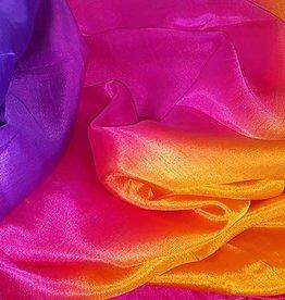 Neu! Bauchtanzschleier aus Seide in lila fuchsia orange