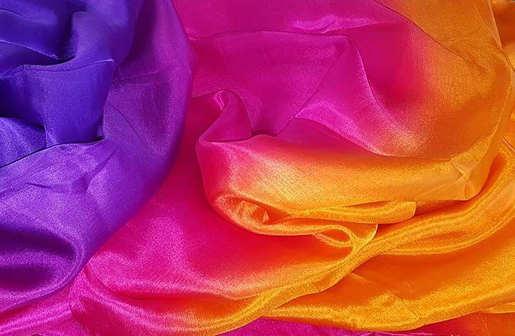 Silk belly dance purple fuchsia orange