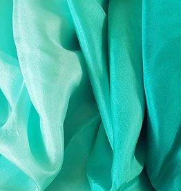 Neu! Bauchtanzschleier aus Seide in pfauengrün Farbverlauf