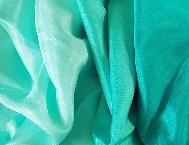 Silk belly dance veil peacock green color gradient