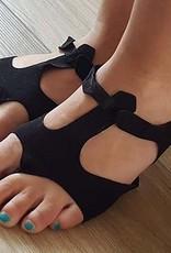Afro-Sandalen in schwarz
