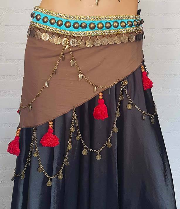 Tribal bra/set in brown/turquoise