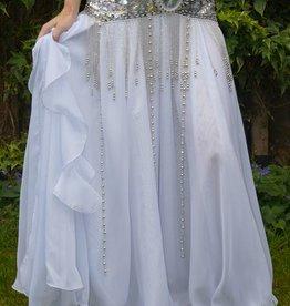 Belly dance skirt white