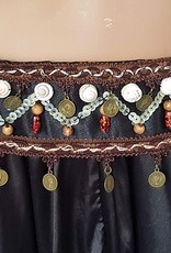 Tribal set black/brown with black sequins