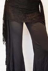 Sakkara Hütftuch in schwarz mit Spitze