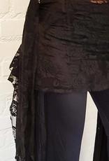 Hütftuch in schwarz mit Spitze