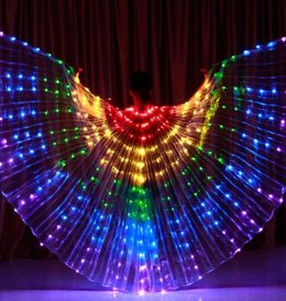 Isis wings rainbow led light