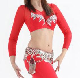Sakkara BH mit großen Glassteinen rot