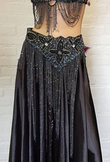 Performance costume Dalal in black with  pearl effect