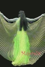 Sakkara Schöne Isis Wings in organza .  Farbe gelb