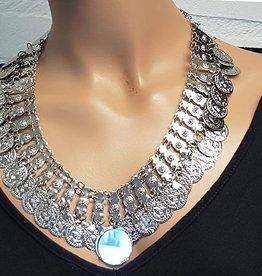 Halskette mit Spiegel in silber