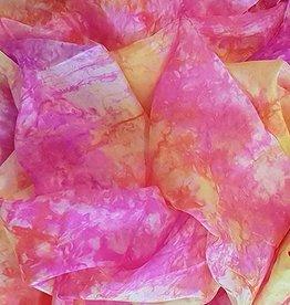 Silk belly dance veil Peony