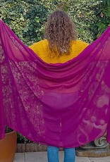 Sakkara Viskose Schleier in Pflaume Farbe
