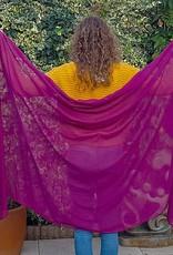 Viskose Schleier in Pflaume Farbe