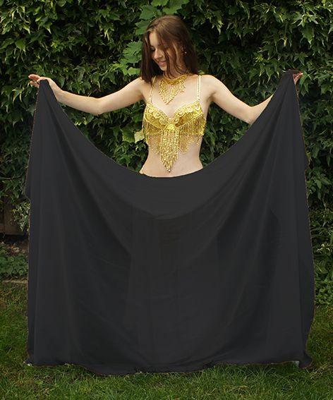 Black belly dance veil
