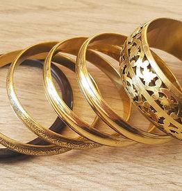 Set bracelets in gold/black