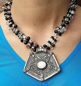 Tribal necklace with amulet