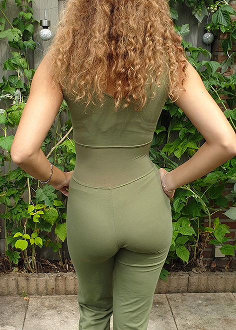 Catsuit sleeveless with strong mesh  size S/2XL/3XL