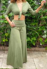 Sakkara Yoga-Hose in olivgrün