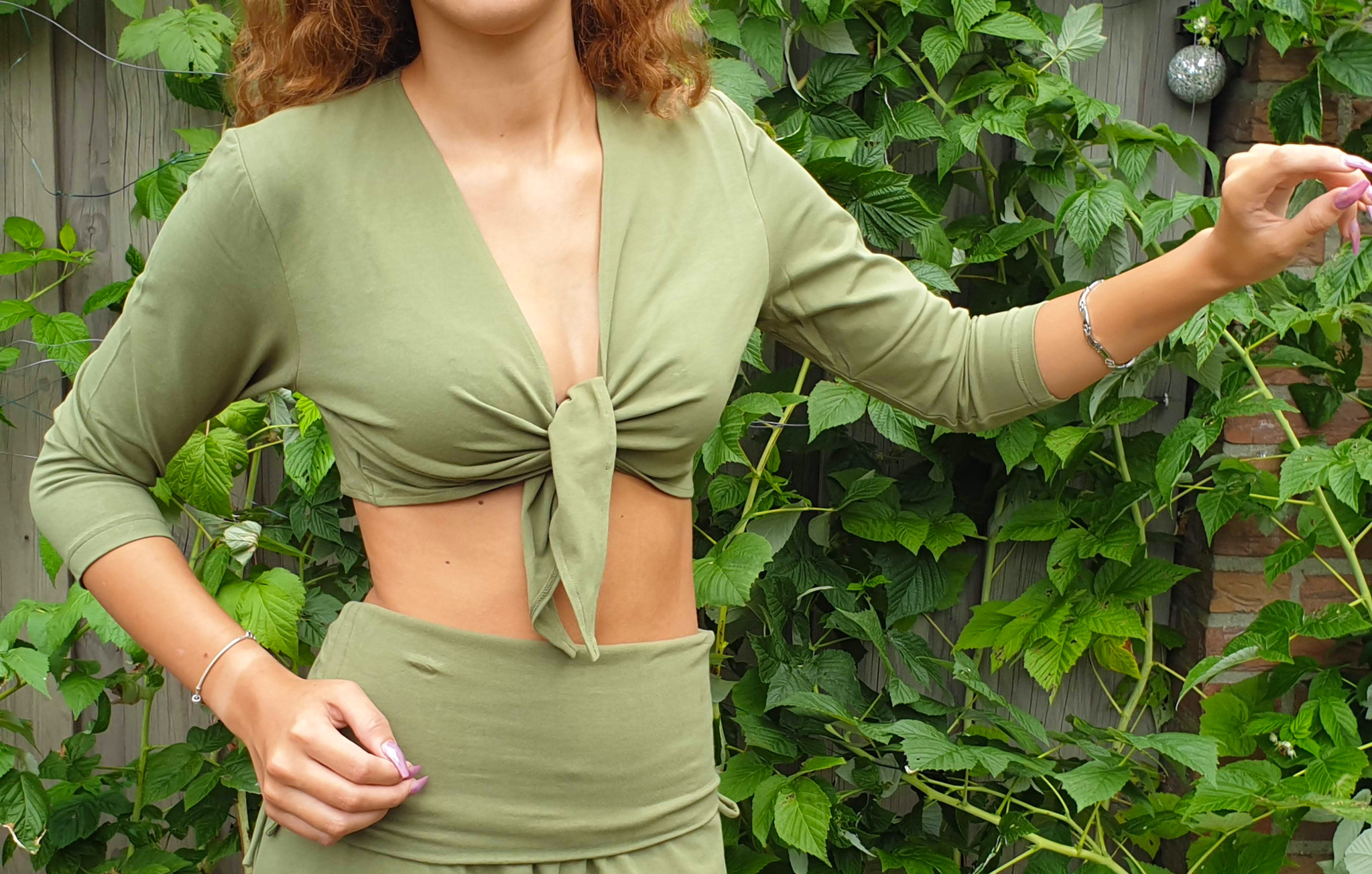 Belly dance top olive