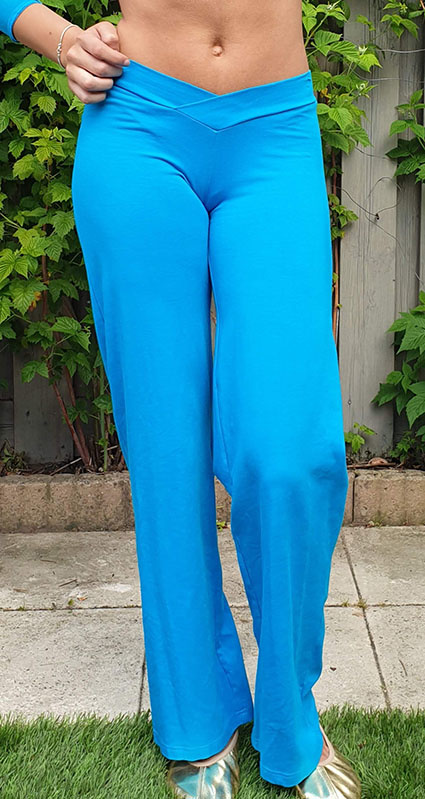 Belly dance pants in turquoise
