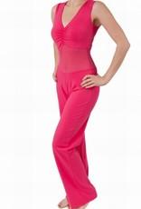 Belly dance catsuit sleeveless fuchsia