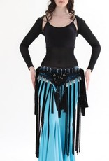 Top with net tulle and bolero (sleeve) in black