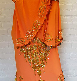 Saidi-Kleid in orange/gold