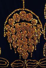 Saidi dress in black/gold S or black/silver XL