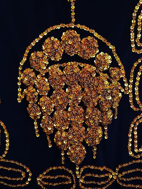Sakkara Saidi-Kleid in schwarz gold oder silber