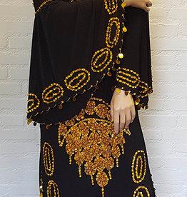 Saidi dress in black/gold or black/silver
