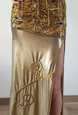 Gold colored belly dance costume