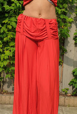 Stretchy wide pants with waistband