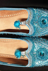 Arabic slippers in orange, turquoise or pink