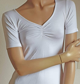 Yoga-Shirt weiß , Halbarm