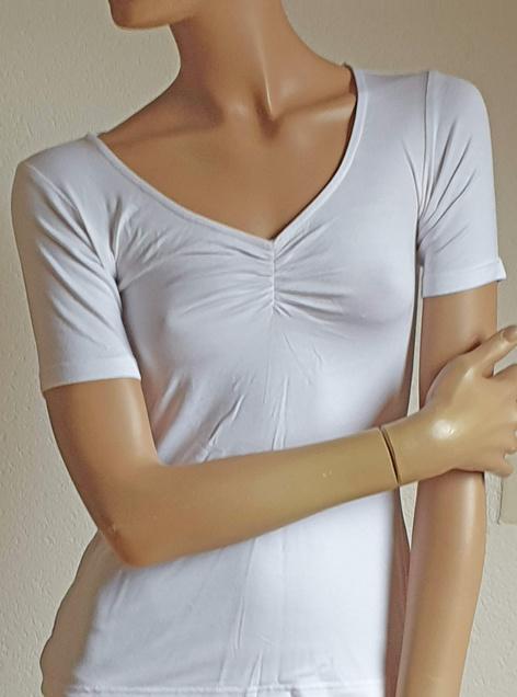 Yoga shirt short sleeve white