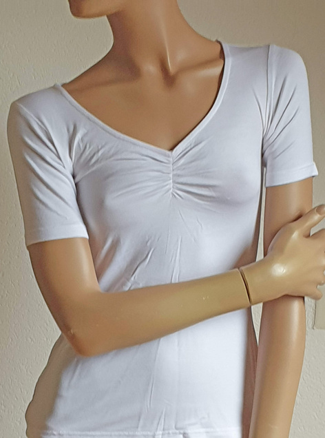 Yoga-Shirt weiß Chitraa, Halbarm