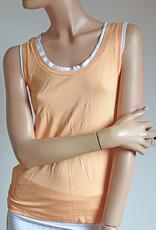 Yoga shirt layered look peach white