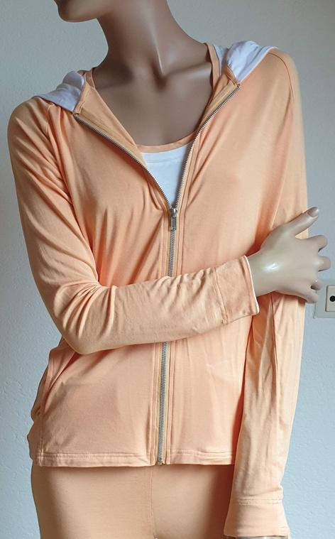 Yoga hoodie vest peach