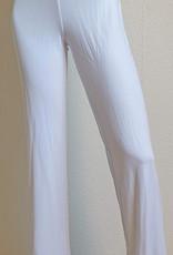 Yoga pants white with elastic band